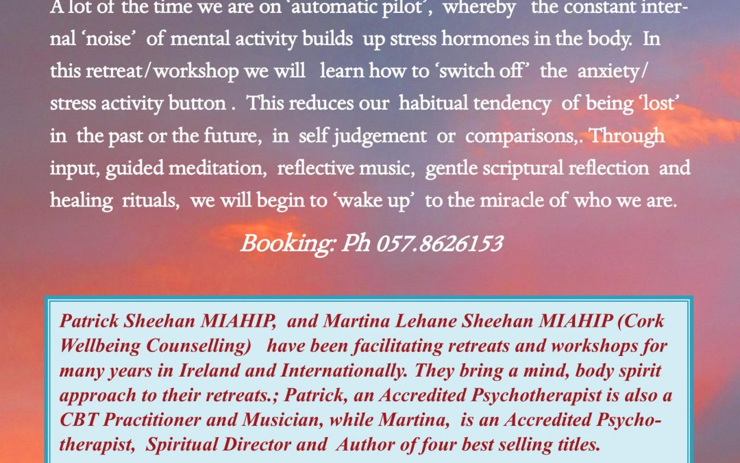 Cork Wellbeing Counselling Awareness and Mindful Living Weekend.